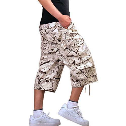 7df98d2e0c high-quality Crazy Men s Cotton Vintage Military Work Cargo Shorts Pant