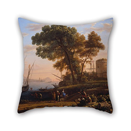 Uloveme Pillow Covers 18 X 18 Inches / 45 By 45 Cm(2 Sides) Nice Choice For Monther,indoor,chair,bedroom,office,kids Room Oil Painting Claude Lorrain - An Artist Studying From Nature - Artists Child Rocking Chair