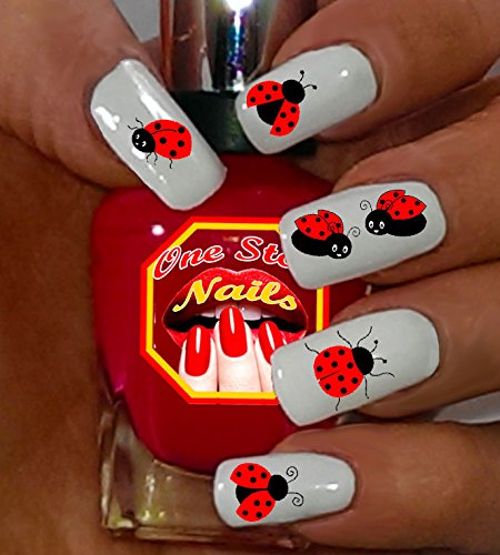 Ladybug nail decals For You: Set of 60 Clear waterslide nail decals with Ladybug  nail - Amazon.com: Nail Sticker/Nail Art - 3D Collection - Ladybugs: Beauty