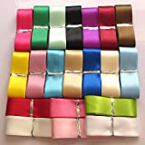 "Chenkou Craft 20Yards 1"" Single Face Polyester Ribbon 20 Colors Assorted Bulk Lots Mix"