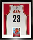LeBron James Signed Nike Cavaliers Jersey & Upper Deck Authenticated 8x10 Photo - Professionally Framed & UDA COA - 34x42