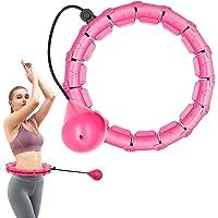 Gewogen slimme hoelahoep, intelligente fitness hoepels 24 knopen afneembare ring 2 in 1 verstelbare maat met…
