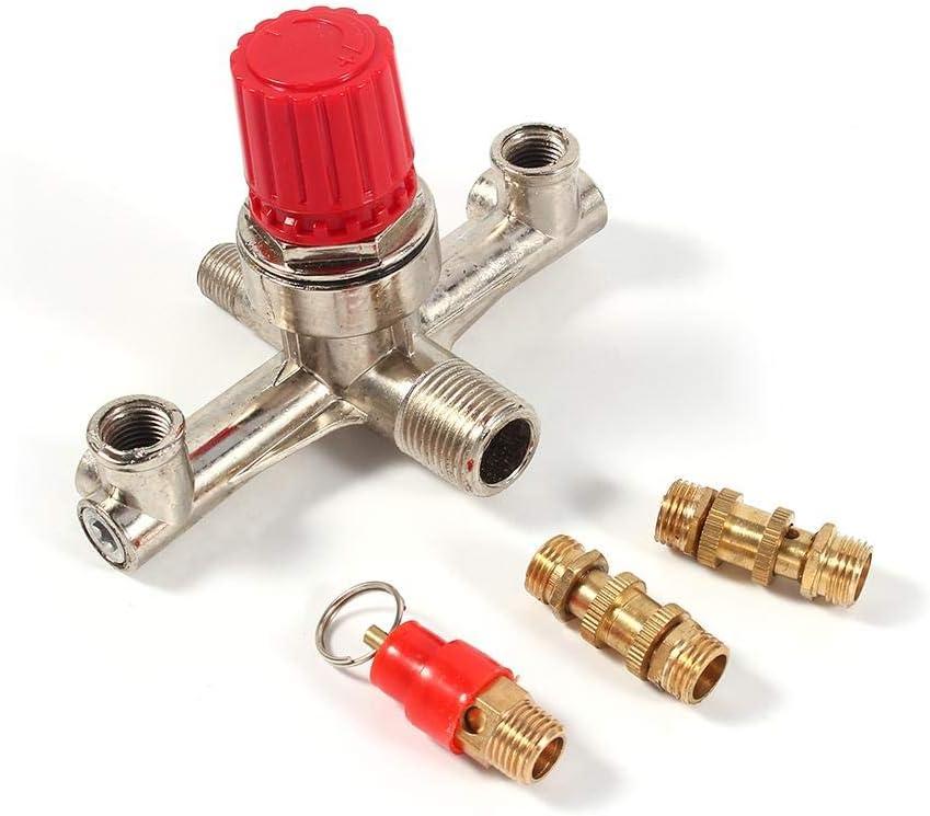 valvola del regolatore di pressione Parte adatta Interruttore del compressore daria in lega con tubo a doppia uscita