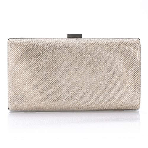 Womens Vintage Envelope Clutch Champagne Evening Handbag For Cocktail/Wedding/Party - Champagne Clutch