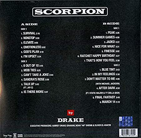 Drake - Scorpion [2 LP] - Amazon com Music