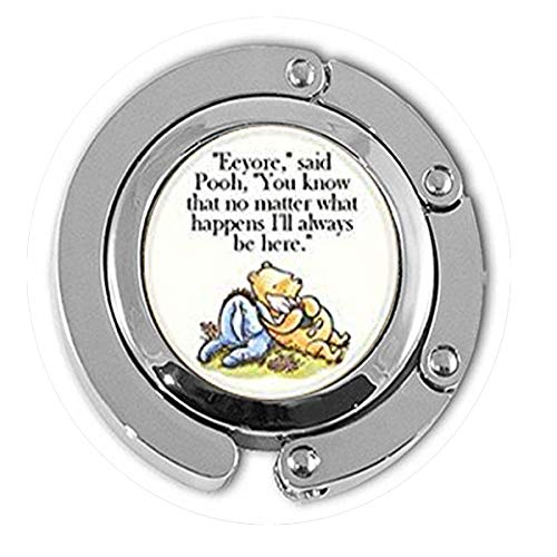 (hars Support Encouragement Classic Illustration Pooh and Eeyore Pendant Hanger,Bible Quote Pendant - Christian Insect Art Hanger, Hanger,Unique Hanger Customized Gift,Everyday Gift)