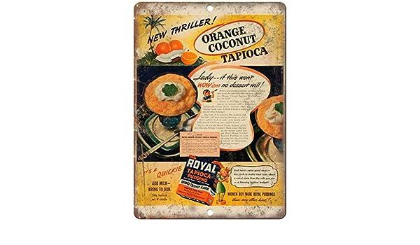 Royal Tapioca Pudding Vintage Placa Vintage Metal Cartel de Chapa ...