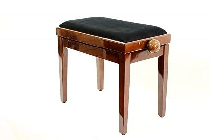 Legato regolabile in legno pianoforte sgabello con sedile imbottito