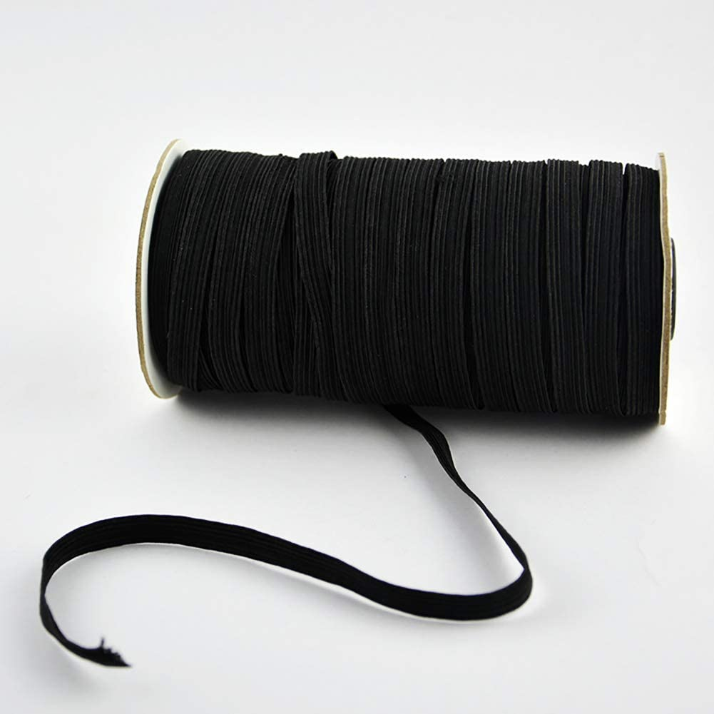 Black Elastic Band for Sewing Cuff Making Beading Crafts DIY 197 Yards 1//4 Inch Elastic Cord//Elastic Rope Bedspread Heavy Stretch Knit Elastic Band for Sewing Jewelry
