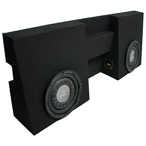 "Compatible with 2005-2015 Toyota Tacoma Double Cab Truck Harmony F104 Dual 10"" Sub Box Enclosure"