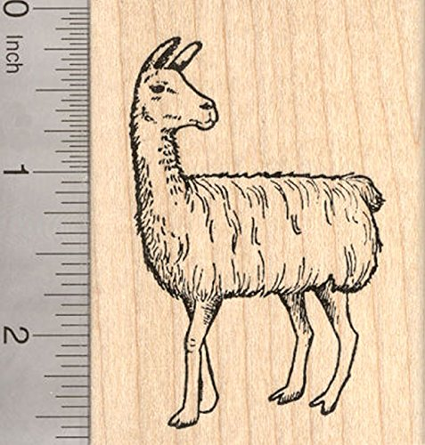 Llama Rubber Stamp, Domesticated South American Camelid, Pack Animal