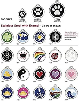 K9 Palace Red Dingo Stainless Steel with Enamel Pet I.D Tag