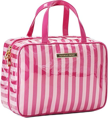 Victoria's Secret hanging weekender case with Stripe
