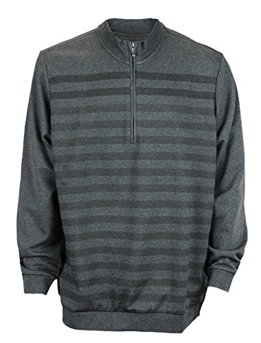 Ashworth Mens French Terry Herringbone 1/2-Zip Pullover Grey Xl