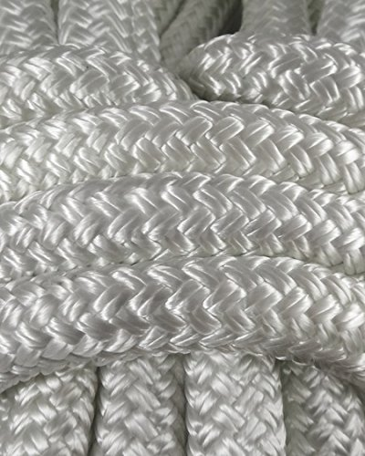 Miami Cordage NYB38508 Nylon Double Braid 3/8 in x 50 ft White