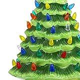 Gejoy 150 Pieces Ceramic Christmas Tree Replacement Lights, Multi Color Medium Plastic Light Up Twist/Bulbs and 1 Piece Ceramic Tree Star Ornament