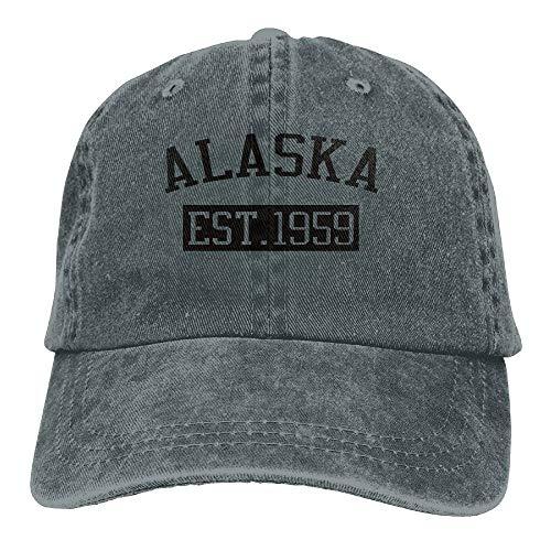 Alaska EST 1959 Trend Printing Cowboy Hat Fashion Baseball Cap for Men and Women ()