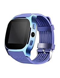 WIM New T8 Bluetooth Smart Watches Support SIM &TF Card With Camera Sync Call Message Men Women Smartwatch Watch For Android (blue)