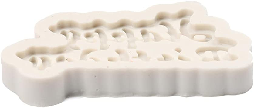 Moule de Cuisson de BZLine moulessilicone Happy Birthday Moule de Biscuit de Biscuit de Chocolat de Silicone