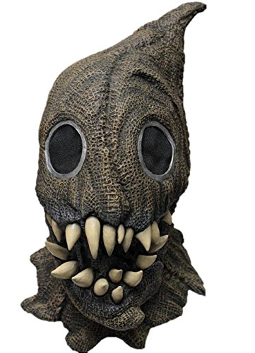 Fanged Sack Monster Scary Scarecrow Latex Halloween Horror