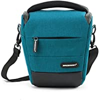 BAGSMART Digital SLR / DSLR Compact Camera Shoulder Bag, Holster Camera Case (Teal)
