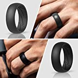 ThunderFit Silicone Wedding Rings for Men - 7 Rings