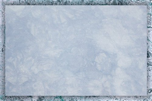 Hand-dyed 16 Count Aida Cloth (Zweigart) - 20x35 - Blue Ice Garibaldi's Needle Works