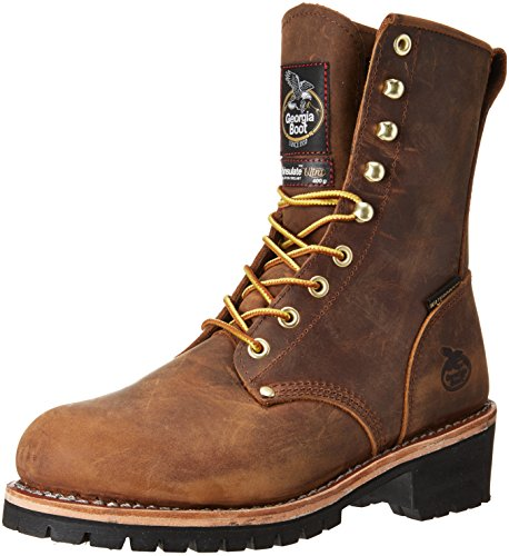 Georgia GB00065 Mid Calf Boot, Brown, 9 W US (Insulated Georgia Boots)