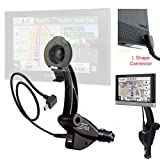 ChargerCity Dual USB Lighter Socket Car Mount w/Cable Charger Adapter for Garmin Nuvi 42 44 52 54 55 56 57 58 65 66 67 68 2457 2497 2539 2557 2558 2559 2577 2589 2597 2598 2599 2639 2689 2699 LM GPS