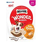 Milk-Bone Wonder Bones Paw Rockers with Real Chicken, Long Lasting Dog Treats, Mini, 18.8 oz Pouch