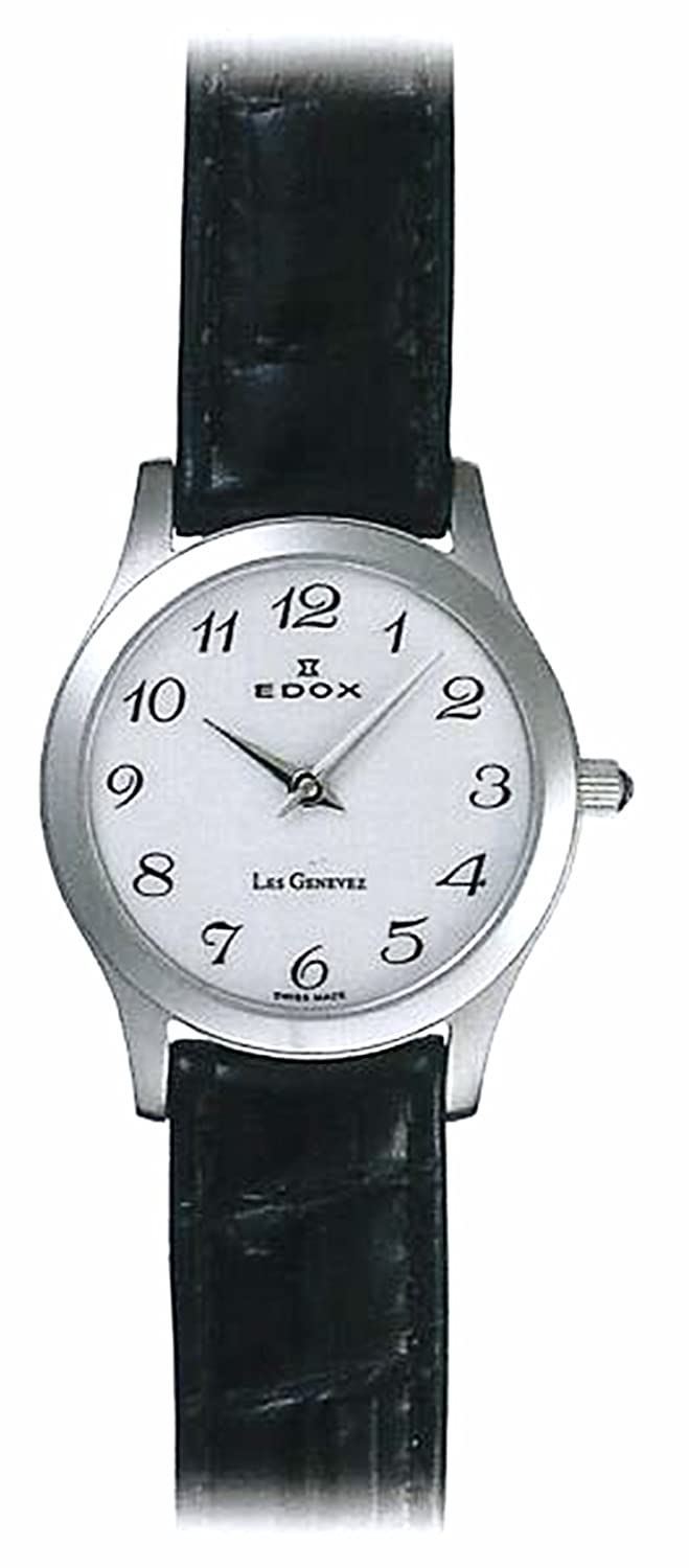 Edox Les Genevez Two Hands Dame uhren 21155-3-BB