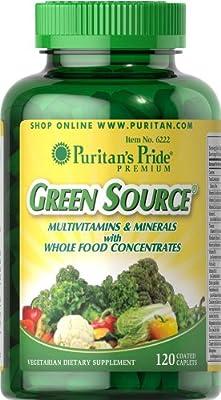 Puritan's Pride Green Source Multivitamin & Minerals-120 Caplets