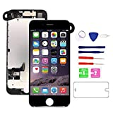 for iPhone 7 Screen Replacement Black(4.7''),i7 3D Touch LCD Display Touch Digitizer with Camera Screen Full Assembly with Repair Tool Kit and Screen Protector