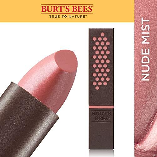 Burts Bees 100% Natural Glossy Lipstick, Nude Mist, 1 Tube, 3.4g