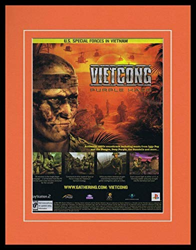 - Vietcong Purple Haze 2004 PS2 Framed 11x14 ORIGINAL Advertisement