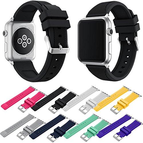 Sport Band for Apple Watch Series 3 42mm, Giantyu Soft Silic
