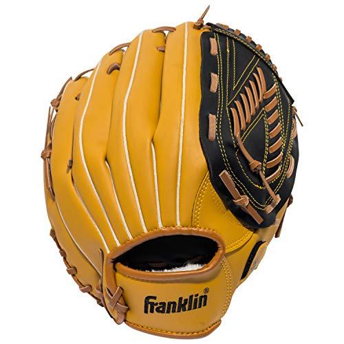 Franklin Sports Baseball Glove - Left and Right Handed Baseball and Softball Fielding Glove - Synthetic Leather Field Master Baseball Glove - 13 Inch Right Hand Throw