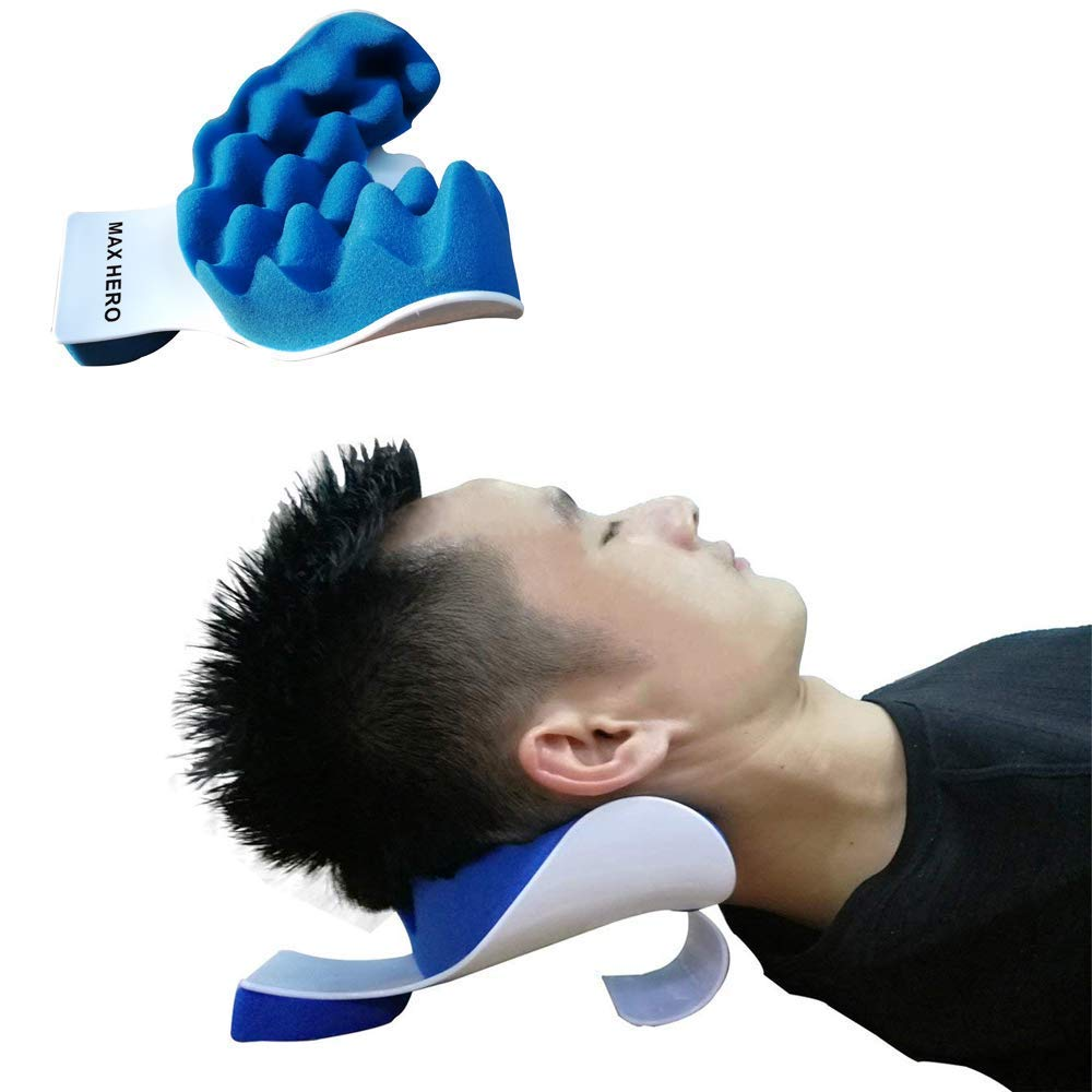 Best Neck and Shoulder Relaxer Traction Device for Pain Relief Management and Cervical Spine Alignment by MAX HERO