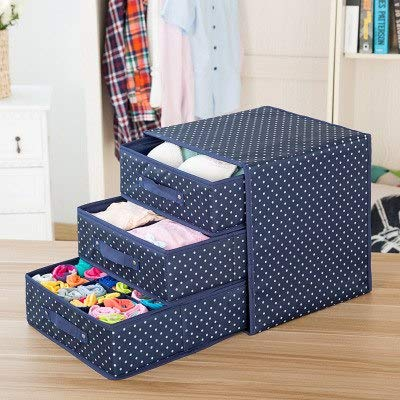 Viet-SC Storage Boxes & Bins - Foldable Divider Storage Bra Drawers Non-Woven Fabric Folding Cases Necktie Socks Underwear Clothing Organizer Container Boxes 1 PCs