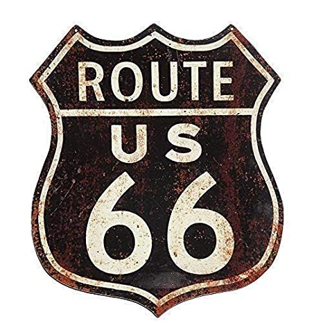 Linoows G1246: Nostalgia Letrero de Metal, Ee.uu. Ruta 66 ...
