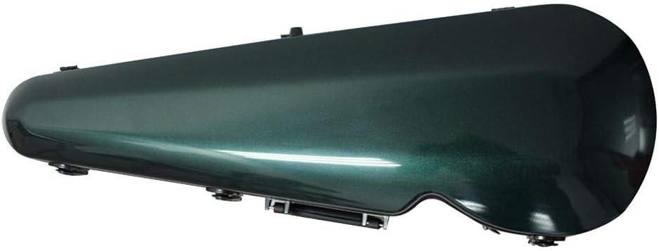 バイオリンケース 高級グラスファイバープロフェッショナルバイオリンハードケース軽量ポータブルキャリングバッグ付きハンドルロックバックパックストラップグリーンフルサイズ4 / 4,3 / 4,1 / 2,1 / 4,1 / 8 ヴァイオリン愛好家向け (色 : 緑, サイズ : 1/8)