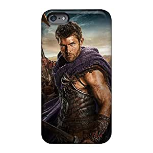 Durable Hard Phone Case For Apple Iphone 6 Plus (glv13550BtPg) Unique Design Fashion Spartacus Pictures