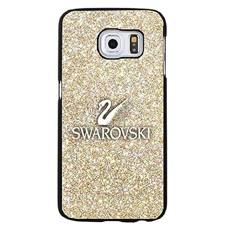 la qualité d'abord comment acheter meilleur site web Glitter Golden Swarovski Logo Phone Case Cover for Samsung Galaxy S6 Edge  Plus Swarovski Rock Crystal Fabulous