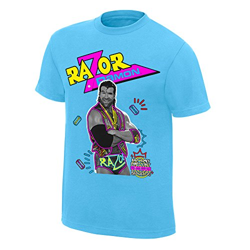 WWE Razor Ramon Neon Collection Graphic T-Shirt Yellow - Wwf Ramon Razor