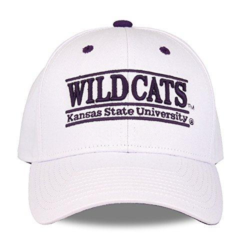 NCAA Kansas State Wildcats The Game Bar Design Hat, White, Adjustable