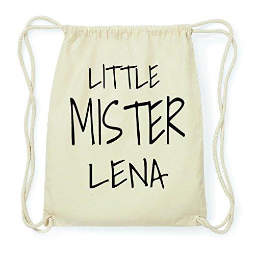 JOllify LENA Hipster Turnbeutel Tasche Rucksack aus Baumwolle - Farbe: natur Design: Little Mister 43556Lskf