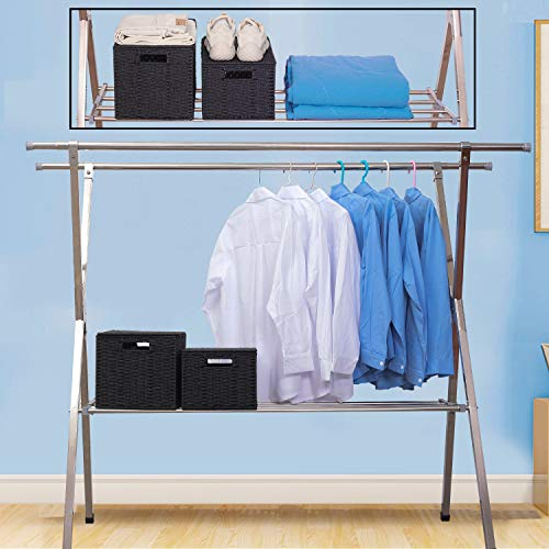 54430761780e Reliancer Heavy duty Large Stainless Steel Clothes Drying Rack ...