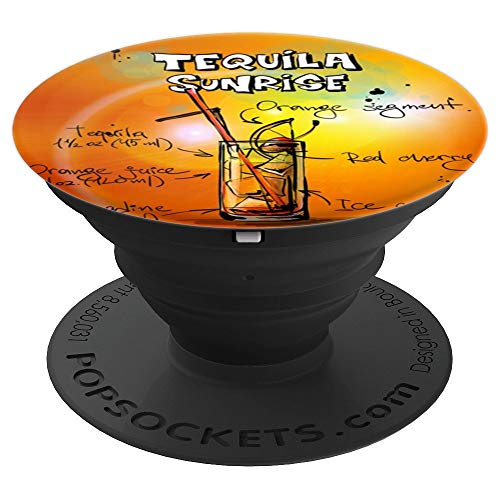 Tequila Sunrise Cocktail Drink Alcohol Pop Socket - PopSockets Grip and Stand for Phones and - Sunrise Drinks