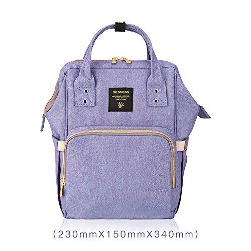 Bébé Épaules Couleur Mère mère Sac Mamelon Dos Multifonctionnel Violet Grand Mode Bleu À wRqwzv1Yx