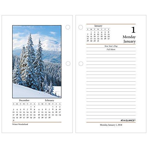 At A Glance Daily Desk Calendar Refill January 2018